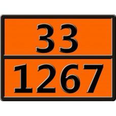 """33-1267 (НЕФТЬ СЫРАЯ) Табличка рельефная """"Опасный груз"""" 400*300мм"""