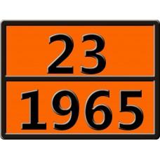 """23-1965 (ГАЗОВ УГЛЕВОДОРОДНЫХ СМЕСЬ СЖИЖЕННАЯ, Н.У.К.) Табличка рельефная """"Опасный груз"""" 400*300мм"""