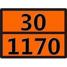 """30-1170 (Раствор этилового спирта) Табличка рельефная """"Опасный груз"""" 400*300мм"""