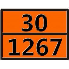 """30-1267 (НЕФТЬ СЫРАЯ) Табличка рельефная """"Опасный груз"""" 400*300мм"""