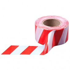 Лента оградительная красно-белая, 0,075м х 2,5м