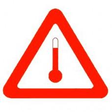 Наклейка ПВХ «Вещества, перевозимые при повышенной температуре»