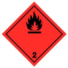 Наклейка ПВХ «Класс 2.1» «Легковоспламеняющиеся газы»
