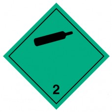 Наклейка ПВХ «Класс 2.2» «Невоспламеняющиеся, нетоксичные газы»