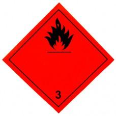 Наклейка ПВХ «Класс 3» «Легковоспламеняющиеся жидкости»