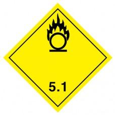 Наклейка ПВХ «Класс 5.1» «Окисляющиеся вещества»