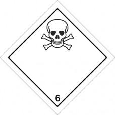 Наклейка ПВХ «Класс 6» «Ядовитые вещества»