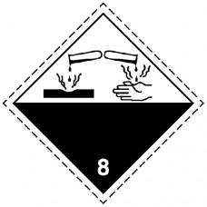 Наклейка ПВХ «Класс 8» «Коррозионные вещества»