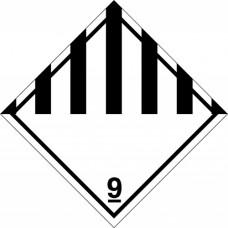 Наклейка ПВХ «Класс 9» «Прочие опасные вещества и изделия»
