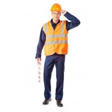 """Жилет сигнальный """"Спектр 3"""" оранжевый (52-54) XL"""